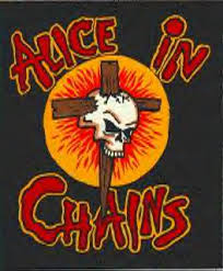 Alice In Chains - crucifixion, stake, sun, skull