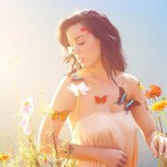 Katy Perry with butterflies
