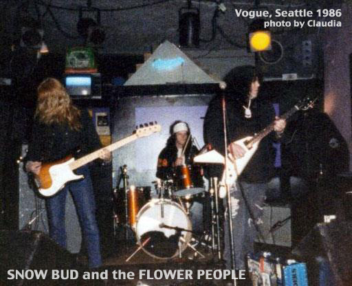 Snow Bud and the Flower People performing at Vogue Seattle 1986