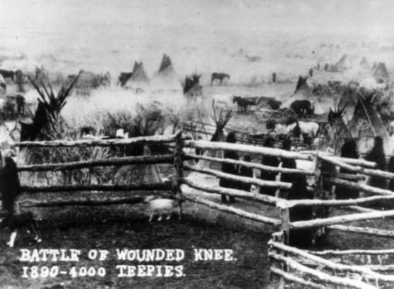 Wounded Knee - 4000 teepees 1890
