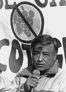 photo of Cesar Chavez in San Francisco 1980s