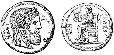Ancient Coin: Zeus at Olympia