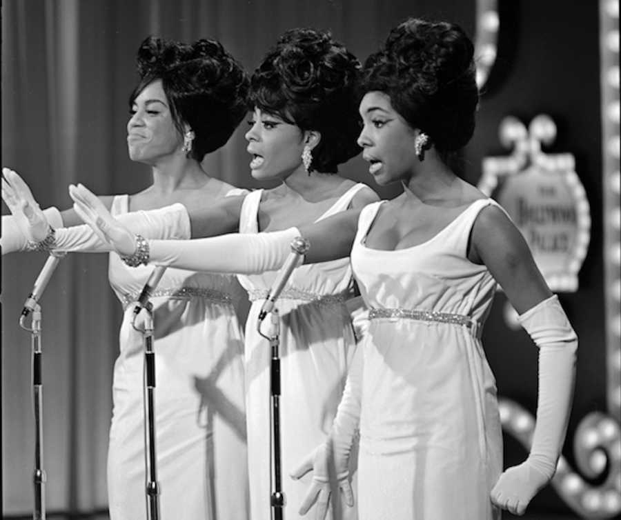 image of Motown Group The Supremes singing Stop In The Name of Love